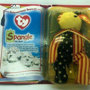Ty Beanie Babies-Rare! Spangle The Bear - McDonald